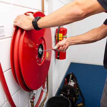 Brandslanghaspel onderhoud