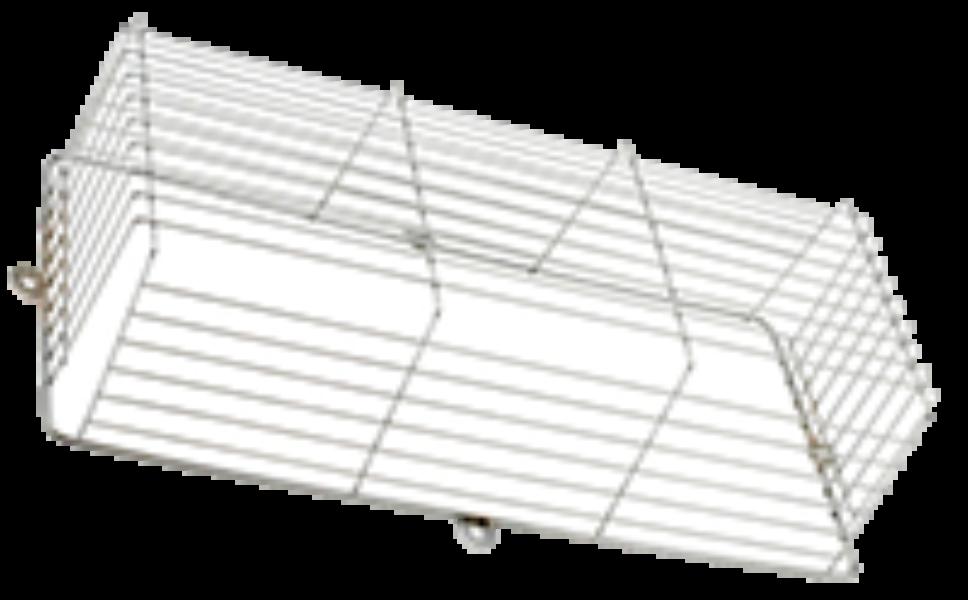 Noodverlichting beschermkorf chroom