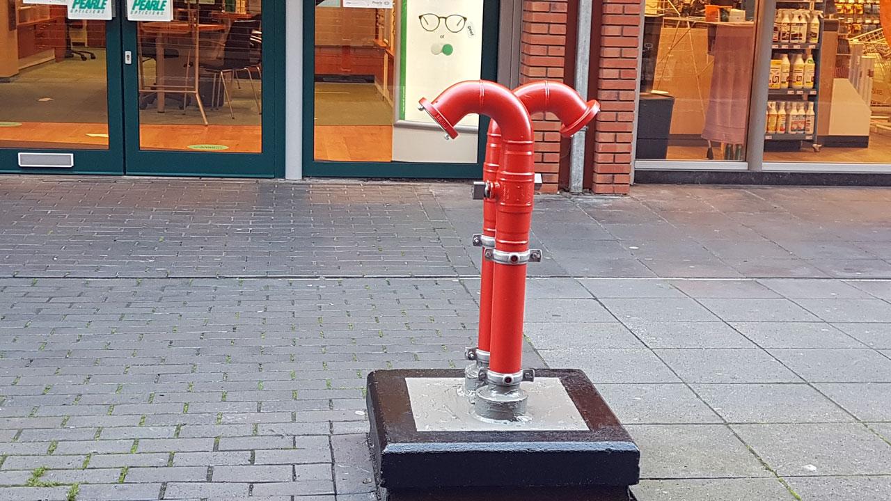 Nieuwe droge blusleiding winkelcentrum De Mare in Alkmaar 6